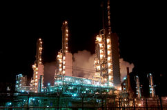 Grangemouth Refinery at Night Royalty Free Stock Photography