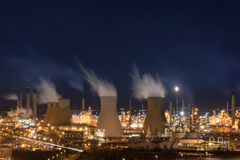 Grangemouth refinery. Grangemouth oil refinery, one of the largest of kind in Europe, at night Stock Image