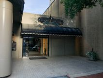 Granger Owings Classic Clothiers lokaliserade på Main Street i Columbia, South Carolina Arkivbilder