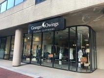 Granger Owings Classic Clothiers lokaliserade på Main Street i Columbia, South Carolina Arkivfoton