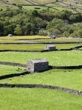 Granges en pierre, Gunnerside Photos stock