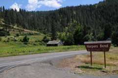 Granges et vie de l'Amérique de règle en Idaho images stock