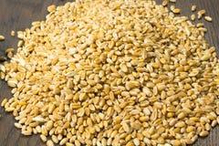 Grani del grano sulla tavola Immagini Stock