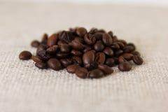 Grani di caffè arrostito Fotografia Stock