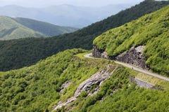 Grani krajobrazowy Błękitny Parkway Pólnocna Karolina obrazy royalty free