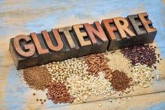 Grani liberi e tipografia del glutine Fotografia Stock Libera da Diritti