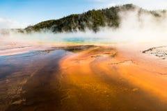 Graniastosłupowa wiosna w Yellowstone parku narodowym Obrazy Stock