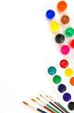 granic farby pędzli Obrazy Stock