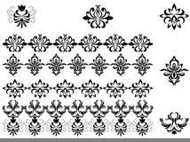 granic kwiatu wzory ilustracja wektor