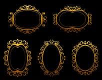 granic ram złoty rocznik royalty ilustracja