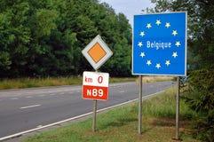 Granica Belgia Zdjęcia Stock