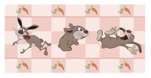Granica dla tapety z królikami ilustracja wektor