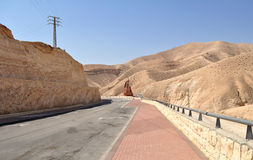 Granica między Izrael i Palestyna Fotografia Stock