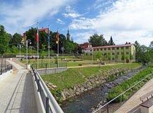 Granica między Niemcy i republika czech Obraz Royalty Free
