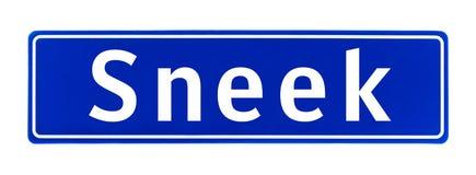 Granica miasta znak Sneek holandie Zdjęcia Stock