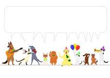Granica partyjni zwierzęta ilustracja wektor