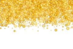 Granica z dużo przekładnie Złota rama przekładnie Technologiczna rama Zdjęcie Royalty Free