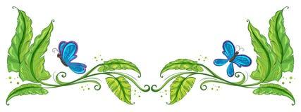 Granica z motylami ilustracja wektor