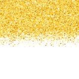 Granica z shimmer gwiazdami Złocisty błyskotanie Złota rama gwiazdy ilustracji