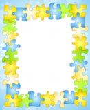 granice ramy puzzle tło Zdjęcie Stock