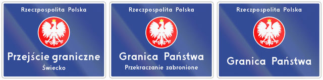 Granicy Kraju skrzyżowanie W Polska ilustracji