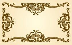 graniczny antique dekoracyjny Royalty Ilustracja