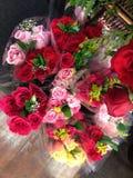 graniczy bukiet róże dekoracyjne ilustracyjne Zdjęcia Stock