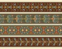 graniczy dekoracyjnego set cztery ilustracja wektor
