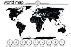 graniczy kraj wyszczególniającego mapy świat Fotografia Stock