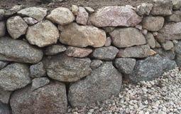 Graniet behoudende muur Royalty-vrije Stock Afbeeldingen