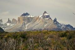 Granietbergen van Torres del Paine Stock Foto