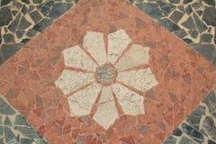Granietbestrating met bloemenpatroon Royalty-vrije Stock Afbeelding