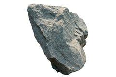 Granietsteen, Fragment van graniet op grond op witte achtergrond royalty-vrije stock foto