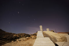 Granietsteengroeve dichtbij Bustarviejo, Madrid, Spanje Royalty-vrije Stock Afbeelding