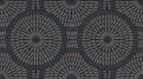 Granitów brukowych kamieni dachówkowa bezszwowa tekstura ilustracji