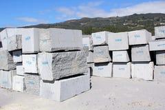 Granit-Blöcke lizenzfreie stockbilder