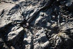 Granit cassé après des grèves surprise images stock
