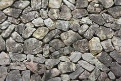Granit cegiełki kamienna ściana Obrazy Stock
