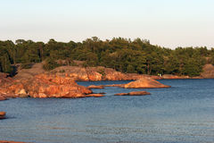 Granit coast in Hanko Stock Images