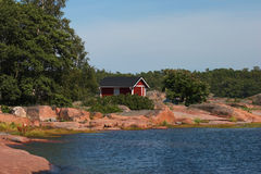 Granit coast in Hanko Stock Photography