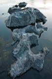 Granit dans le fleuve Photos libres de droits