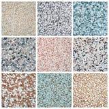 Granit deckt Ansammlung mit Ziegeln stockbilder
