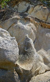 Granit falez & skał tło Fotografia Stock