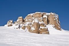 Granit-Felsen in den großen Hupen-Bergen von Wyoming Lizenzfreies Stockfoto