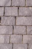 Granit gepflasterte Bürgersteigsstraße Hintergrund, Beschaffenheit Stockbild