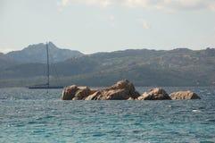 Granit i łódź Fotografia Stock