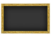 granit noir d'or de trame Image stock