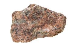Granit på en vit bakgrund Royaltyfri Bild