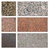 Granit probiert Sammlung Stockbild