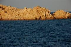 Granit skały na morzu Zdjęcia Royalty Free